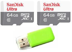 2x 64GB = 128GB Sandisk Ultra micro SDXC Micro SD UHS-1 TF Memory Card Class 10