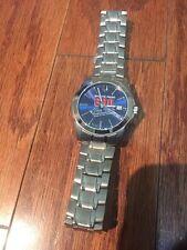 Bulova 680 The Fan Promotion Quartz  Blue Face Watch