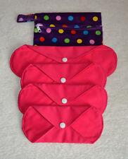 Riutilizzabili Bamboo Charcoal mestruali Sanitary Pad Starter Set (Rosa) Gratis P&p!