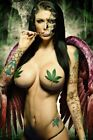 SEXY WEED GIRL (2) 4X6 Glossy Color Photos
