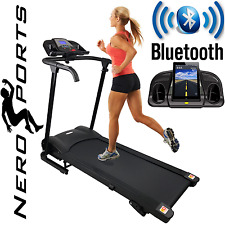 BLUETOOTH Nero Sport Manual Incline Folding Running Machine Motorised Treadmill