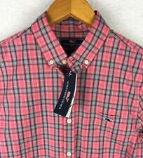 NWT Vineyard Vines Slim Fit Tucker Shirt Mens Size Small Pink Plaid Check Small