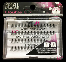 2 PKTS Ardell Duralash Knot Double Flares Short Black Individual Lashes