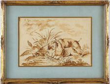 Künstlerische Malereien mit Hund-Motiv-Thema