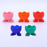 5Pcs Silicone Egg Cup Holders Boiled Egg Soft Colored Serving Cups for Home