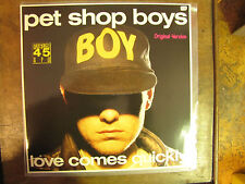 """PET SHOP BOYS LOVE COMES QUICKLY  12"""" VINYL ORIGINAL VERSION 2011066 LP N. MINT"""