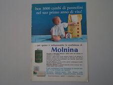 advertising Pubblicità 1963 PANNOLINI MOLNINA