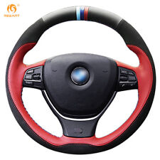 Leather Suede Steering Wheel Cover for BMW F10 520i 528i 730Li 740Li 750Li #BM70