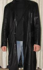 Cappotti e giacche da uomo neri lunghi in pelle  684644631d6