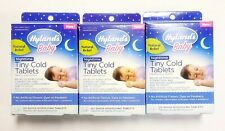 Lot of 3 Hylands Baby Nighttime Tiny Cold Tablets 125 count each