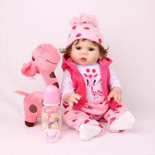 "18"" Reborn Baby Doll Full Body Silicone Vinyl Newborn Bathing NPKDOLL Girl Dolls"