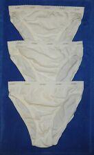 3 Pairs NWOT Women's New Size 7 Jockey Classics French Cut Panties White Cotton