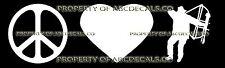 PEACE LOVE ARCHERY HUNTER Vinyl Wall Sticker Car Bumper Window Decal