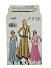 Vogue 7796 Misses Petite Top Skirt Sewing Pattern Size 12-16 OOP UNCUT