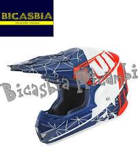 8220 - CASCO CROSS NOEND ORI PATRIOT SC15 XL BLU BIANCO ROSSO