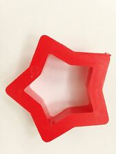 """Red 5 Point 1 1/2"""" Star Cookie Cutter Art Mold"""