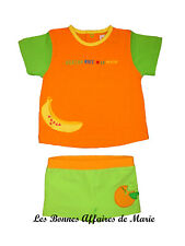 AGATHA RUIZ DE LA PRADA - LIQUIDATION - T-shirt & maillot vert et orange - 12M