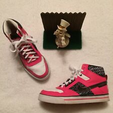 Nike Delta Force Shoes Sneakers Womens 8 /39 386200-601 Pink Black Minimal Wear