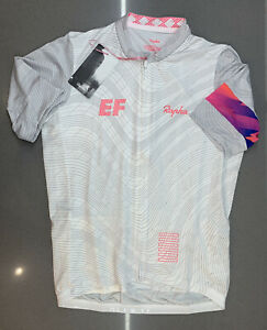Rapha EF Pro Cycling Pro Team Training Jersey White Size Medium New With Tag