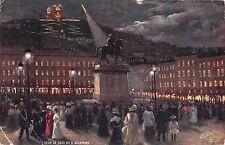 B94514 lyon le soir du 8 decembre france postcard painting