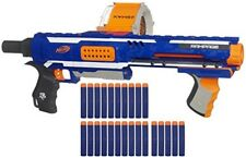 Nerf N Strike Blaster Toy Gun Rampage Elite Darts Kids Outdoor Play Blue Yellow