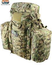 TACTICAL RUCKSACK 90 LITRE ASSAULT BERGEN & SIDE POUCHES MTP BTP BRITISH ARMY 5