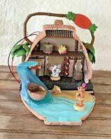 "Moana Motunui Island Dollhouse Play Set Disney Animators Little Collection 4.5"""