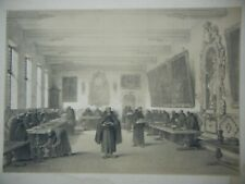 DAY & HAGUE LOUIS HAGHE LITHOGRAPH 1840 CAPUCHIN MONASTERY BRUGES BELGIUM