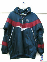 Umbro Kids Windbreaker Sports Jacket Blue 100% Polyester Size 18 Zip Up