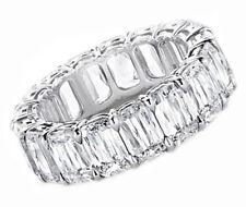 Platinum Diamond 7.90 Carat Prong Style Eternity Ring Radiant Shape
