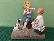 1980 The Music Master by Norman Rockwell, Museum Figurine, Stamped FREE SHIPPING