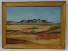 Antique Oil on Board Southwestern Landscape Painting Signed/Dated Listed Artist