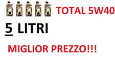 OLIO MOTORE TOTAL QUARTZ 9000 5W40 5 LITRI  PREZZO PIU' BASSO!!! NUOVA LATTINA