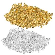 1200pcs Copper Crimp Tube Beads Findings for Ending Beading Cord & Wire Ends