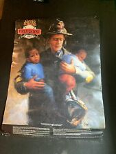 Coors Extra Gold Americas Heroes Poster Firefighters East Orange Nj 1993