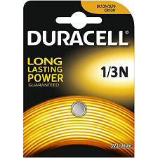 1 x Duracell 1/3N 3V Lithium Batteries DL 1/3 N CR1/3N Brand New