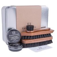 FootFitter Military Shoe Shine Kit with Shoe Polish