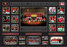 New Manchester United Oversized Limited Edition Memorabilia Framed
