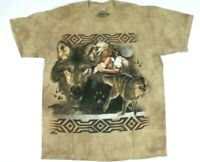 THE MOUNTAIN Men's T-Shirt Sz Medium Brown Wolf Native American M