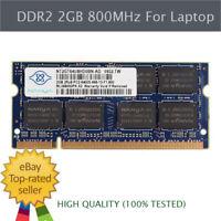 2GB 4 GB 8GB DDR2 800MHz PC2-6400 For NANYA Laptop Memory SODIMM RAM 1.8V 200Pin