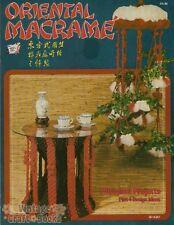 Oriental Macrame Vintage Pattern Book NEW Door Curtain Bird Cage Wind Chimes