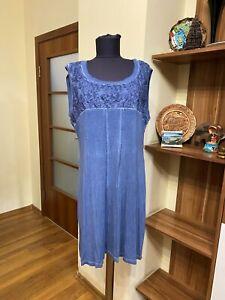 BOTTEGA BY ELISA CAVALETTI STRETCH JERSEY SLEEVELESS WASHED RELAXED TUNIC DRESS