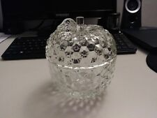 Vintage Jeannette Glass, Crystal Apple Candy Dish, from the Curios Collection