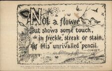 Temperance Alcoholism Cowper Quote-  AT Cook Hyde Park NY c1910 Postcard