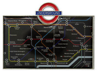TFL™3011 Licensed Underground™ Tube Map Fridge Magnet Black