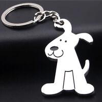 Niedliche Hundewelpen-Metall Keychain Schlüsselketten RingSchlüsselFobGesc/DE