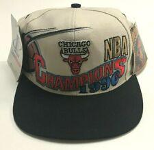 NEW Chicago Bulls 1996 NBA Champions Locker Room Snapback Hat Logo Athletic NWT