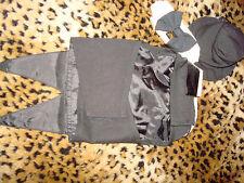Designer Black Dog Tuxedo w/Tails Tie Top Hat Small Medium Pet