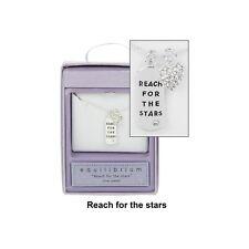 Reach for the Stars Messaggio Tag Collana placcato ARGENTO nuovo scatola regalo equiblibrium