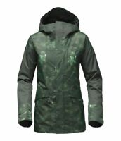 The North Face Women Green Cross Town Hooded Outdoor Ski Snowboard Jacket Coat